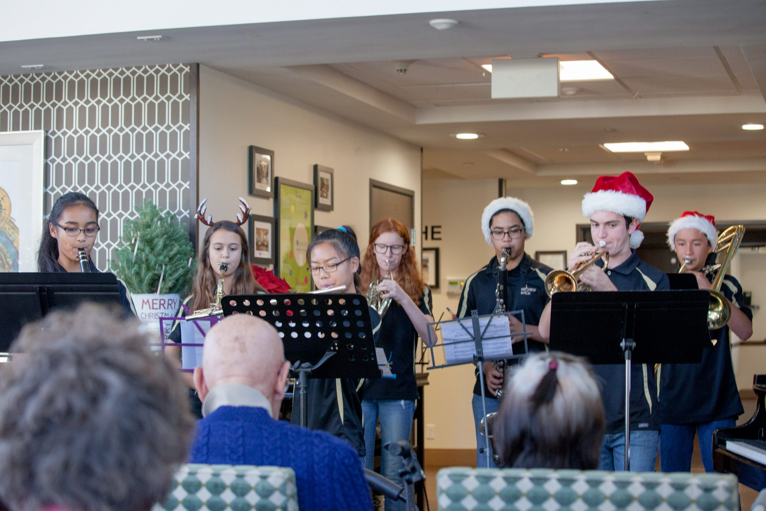 Tri-M performs at senior home