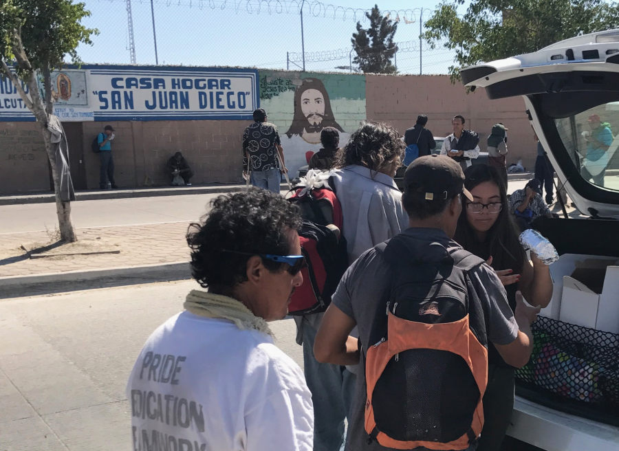 Gonzalez travels to Tijuana, delivers food packages to homeless locals homeless in Mexico
