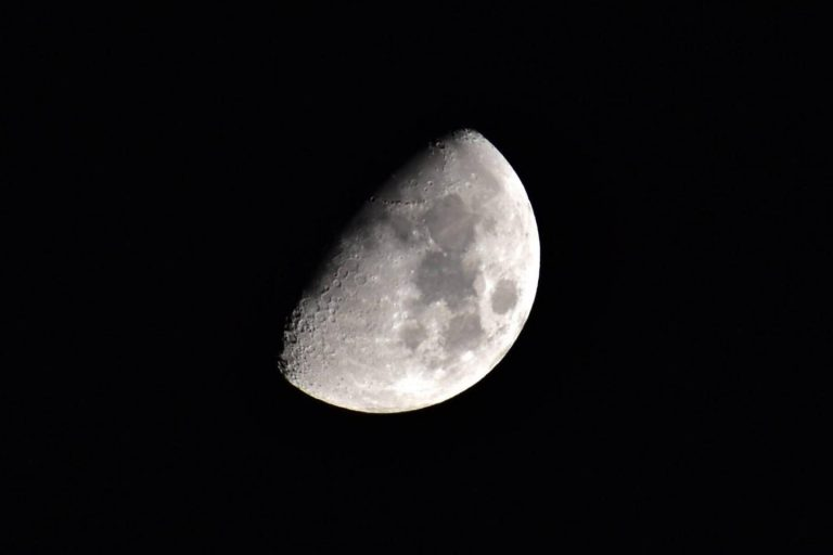 The moon in its waxing gibbous phase