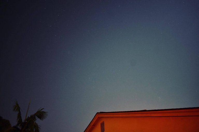 The night sky from Tsai's backyard