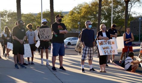 Student-athletes participate in Let Them Play rally, call for sports reopening