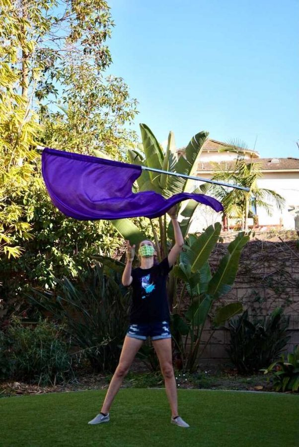 Carr maintains drive to improve Color Guard skills during pandemic