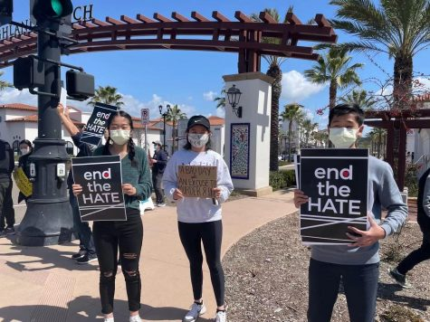 Hou attends protest, advocates for AAPI voice