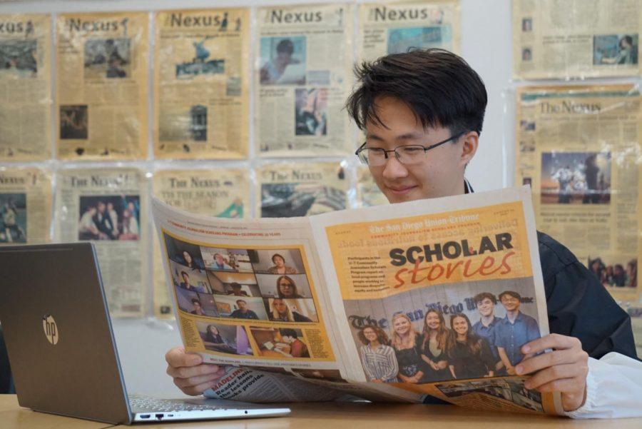 Si writes for Union-Tribune, earns scholarship