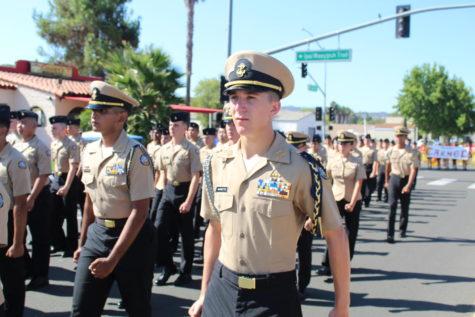 NJROTC march at Poway Rotary