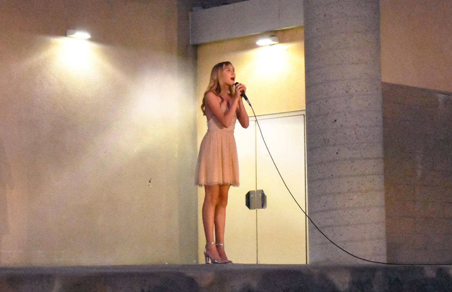 """Lilith Freund (12) sings """"Time Heals Everything"""" from Mack and Mabel.  Photo by Katie Lew."""